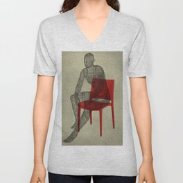 red chair Unisex V-Neck