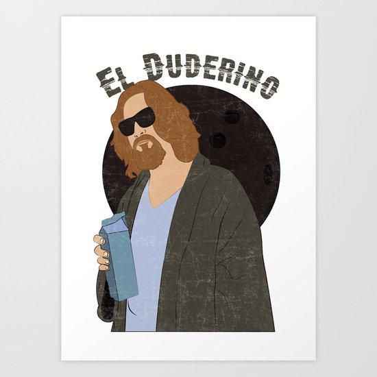 El Duderino Art Print