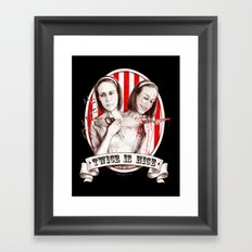 Tattler Twins (edited) Framed Art Print