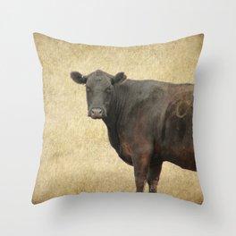 Vintage Cow Throw Pillow