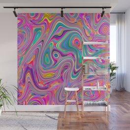 Candy pink melt Wall Mural