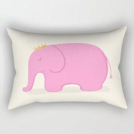 Queen Pink Elephant Rectangular Pillow