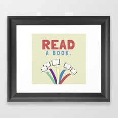 Read a book. Framed Art Print