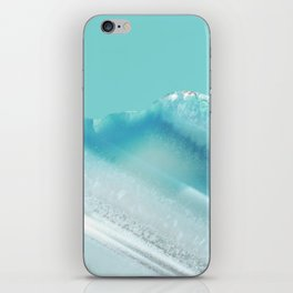 Geode Crystal Turquoise Blue iPhone Skin
