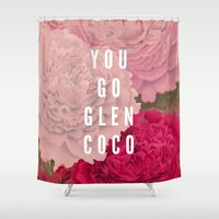 coco Shower Curtains featuring You Go Glen Coco by Zeke Tucker