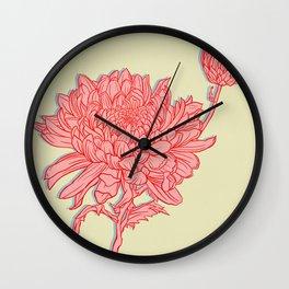 Chrysanthemum in Pink Wall Clock