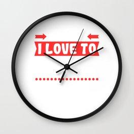 "Looking For Kicking Tee For A Kicker You Saying ""Careful I Love To Kick Balls"" T-shirt Design Wall Clock"