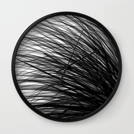 Graphite Waves Wall Clock