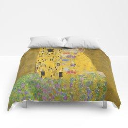 """Gustav Klimt """"The Kiss"""" Comforters"""
