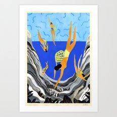 Pearl Divers I Art Print