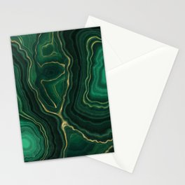 Malachite Texture 09 Stationery Cards