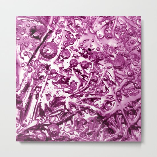 pink ice chrome IV Metal Print