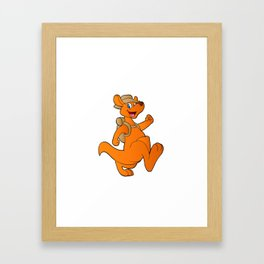 kangaroo hiker Framed Art Print