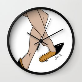 Kitten Heels Wall Clock