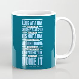 Lab No. 4 Look At A Day When Margaret Thatcher Inspirational Quote Coffee Mug