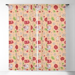 Birdy Roses Pattern 1 Blackout Curtain