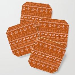 Scandinavian Christmas in Orange Coaster