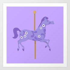 Mary Poppins horse Art Print