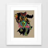 warcraft Framed Art Prints featuring Druid by Electra Vasiliadi