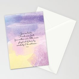 Give me books, French wine - Keats Stationery Cards