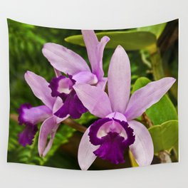 Cattleya Orchid Wall Tapestry