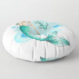 Pisces Mermaid Floor Pillow