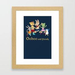 Ooboo and friends - Everyone Framed Art Print