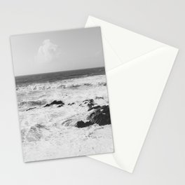 Vintage film style Black and white coast. Stationery Cards