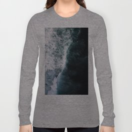 Oceanscape - White and Blue Long Sleeve T-shirt