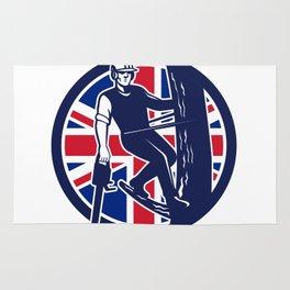 British Arborist Union Jack Flag Icon Rug