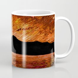 FIERY SUNSET AT MURLOUGH Coffee Mug