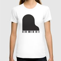 piano T-shirts featuring Piano by Tony Vazquez