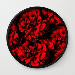 Defined Red Wall Clock