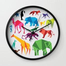 Paper Animals Wall Clock