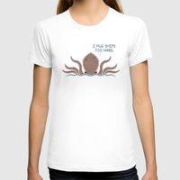 kraken T-shirts featuring Monster Issues - Kraken by Teo Zirinis