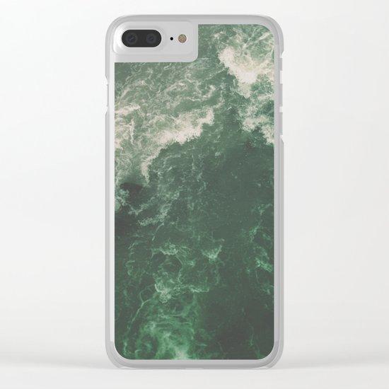 Green Seaside Clear iPhone Case