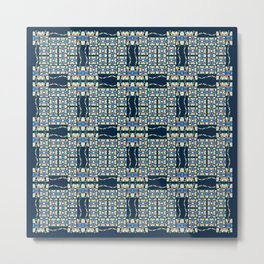 Deep Wata - Gingham Metal Print