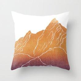Colorado Mountain Ranges_Boulder Flat Irons Throw Pillow