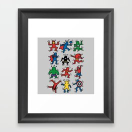 Keith Superheroes Framed Art Print