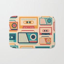 Audio Cassettes and Radios Bath Mat