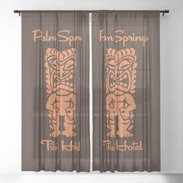 Tiki Hotel Logo Sheer Curtain