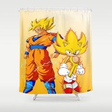 Super Sonic Warriors Z Shower Curtain