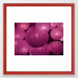 Bubble lights Framed Art Print