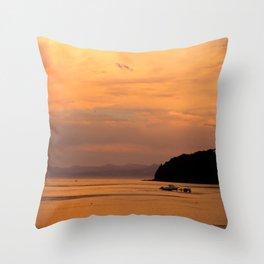 Golden Summer Throw Pillow