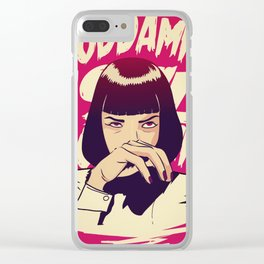 Pulp Fiction Mia Wallace Clear iPhone Case