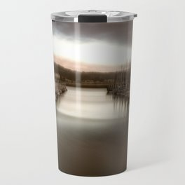 Unbalanced Half Moon Bay California Travel Mug