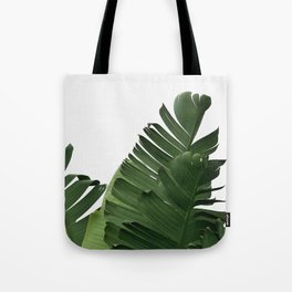 Minimal Banana Leaves Tote Bag