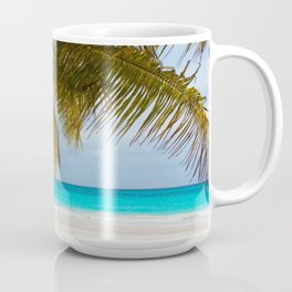 sea landscape with a palm tree Coffee Mug