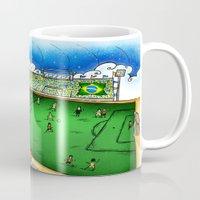 brasil Mugs featuring Brasil by Henrique Abreu