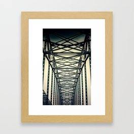 life is a journey . Framed Art Print